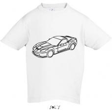 Chlapčenské tričko-omaľovánka