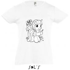 Dievčenské tričko-omaľovánka
