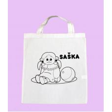 Textilná taška s omaľovánkou