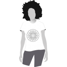 Dámske anti-stresové tričko-omaľovánka