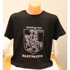Pánske čierne tričko s veľkým obrázkom