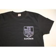 Pánske čierne tričko s malým obrázkom