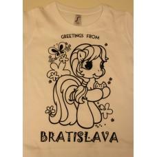 Dievčenské tričko-omaľovánka s fixkami