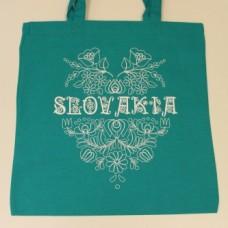 """Textilná taška uši 67 cm s veľkým obrázkom """"Ľudový vzor"""""""
