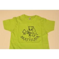 Detské farebné tričko s obrázkom